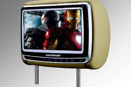 """Schneider 9"""" Slide-Up Headrest DVD Player -"""