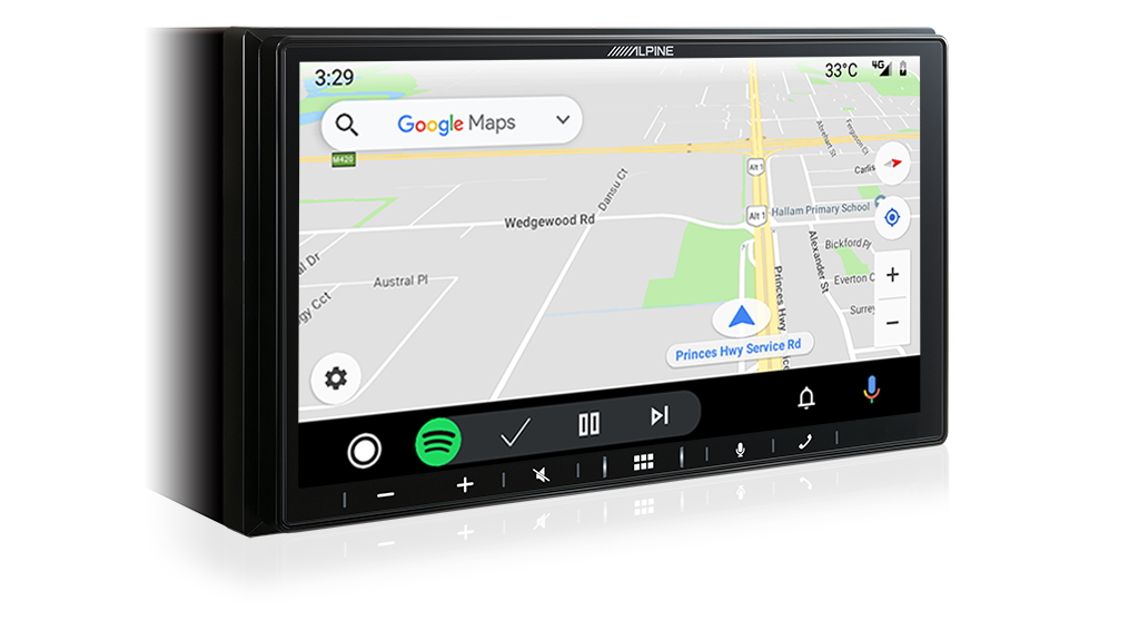 """Alpine iLX-W650 7"""" Mechless Receiver Compatible with Apple CarPlay and Android Auto -"""
