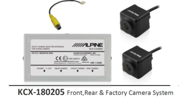 Alpine KCX-180205 Front & Rear Camera -