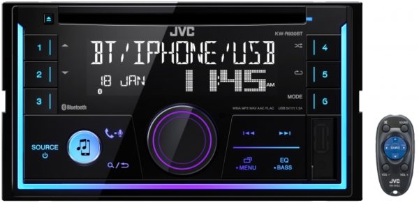 JVC KW-R930BT CD Head Unit Built-in Bluetooth and Front USB/AUX Input -