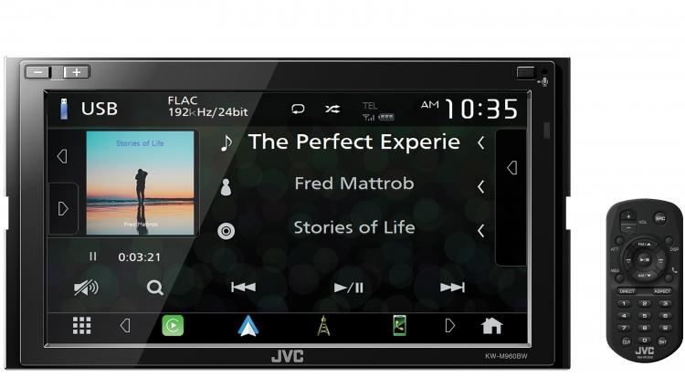 JVC KW-M960BW Android Auto Wireless Apple CarPlay Multimedia Head Unit -