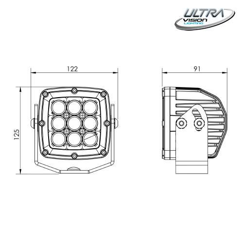 ULTRA VISION LIGHTING DVA45LEDWF -