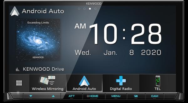 "Kenwood DMX8520DABS 7"" Android Auto Wireless CarPlay DAB+ Head Unit -"