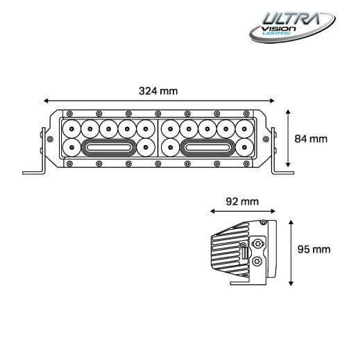 NITRO Maxx 105W/3 13″ WIDR BEAM LED Light bar -
