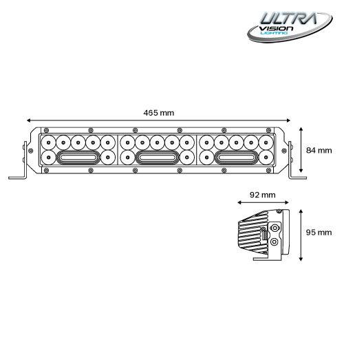 NITRO Maxx 155W/3 18″ WIDR BEAM  LED Light bar -