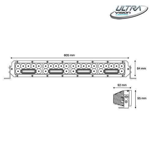 NITRO Maxx 205W 24″ WIDR BEAM LED Light bar -
