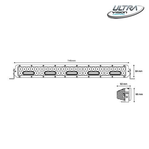 "NITRO Maxx 255W4/3 30"" WIDR BEAM LED Light bar -"