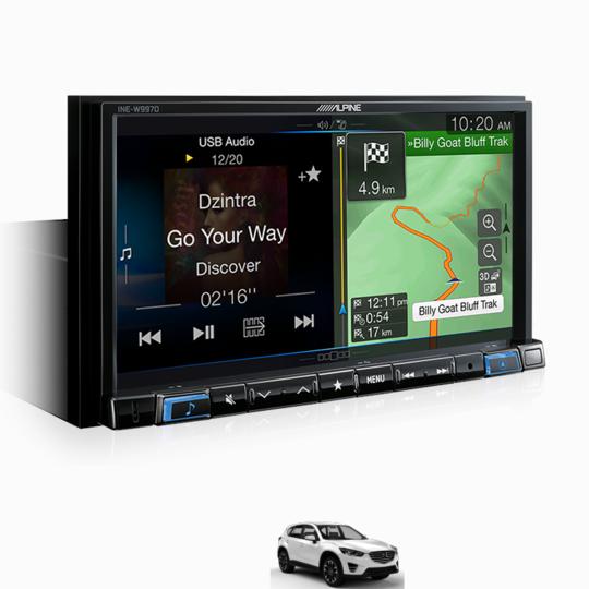 """Alpine Mazda CX5-W997D 7"""" Perfect Fit Solution for Mazda CX-5 -"""
