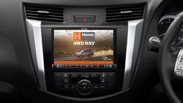 "Alpine NISSAN NAVARA-X208DXRX 8"" Apple CarPlay / Android Auto / Primo 3.0 Navigation / HEMA 4WD Maps / Bluetooth / DAB+ Receiver -"