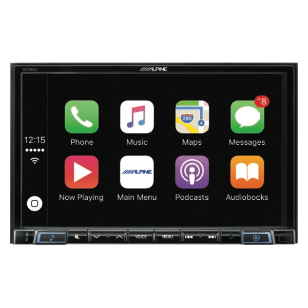 "Alpine ASX-X208AU 8"" Navigation Apple CarPlay & Android Auto for Mitsubishi -"