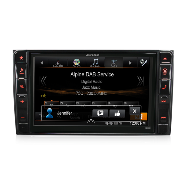 Alpine MERCEDES-X800D-S906 8″ DAB+ / DVD / USB / HDMI / Bluetooth Advanced Navigation Station for Mercedes Sprinter -