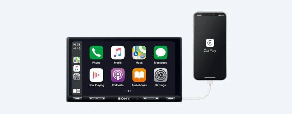 """Sony XAV-AX5500 6.95"""" Apple CarPlay Android Auto Head Unit -"""