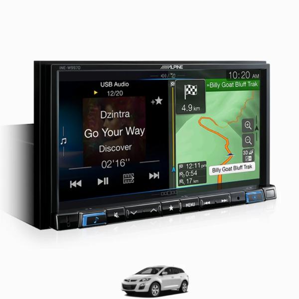 """Alpine Mazda CX7-W997D 7"""" Perfect Fit Solution for Mazda CX-7 -"""