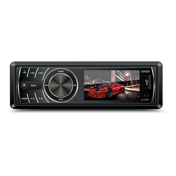 """Axis AX1805BT 3"""" Single Din LCD MultiMedia Receiver With Bluetooth -"""