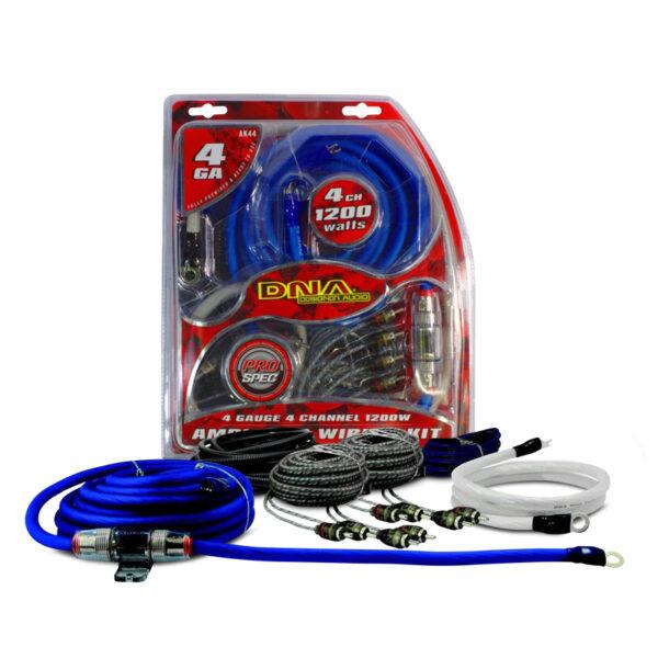 DNA AK44 1200 Watts 4 Gauge 4-Channel Amplifier Kit -