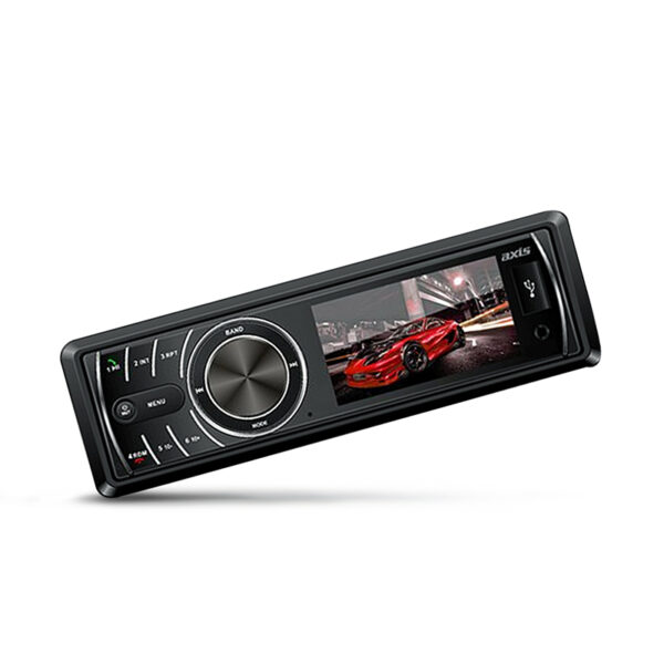 Axis AX1801BT Single Din LCD MultiMedia Receiver With Bluetooth -