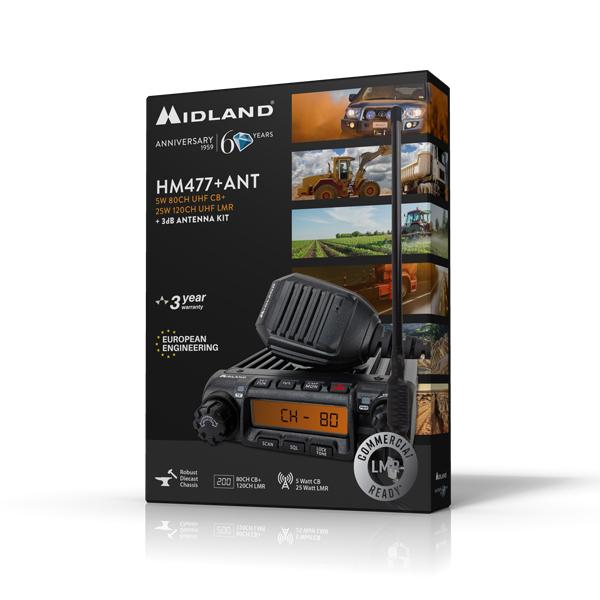 MIDLAND HM477+ANT LAND FIXED MOUNT RADIO -