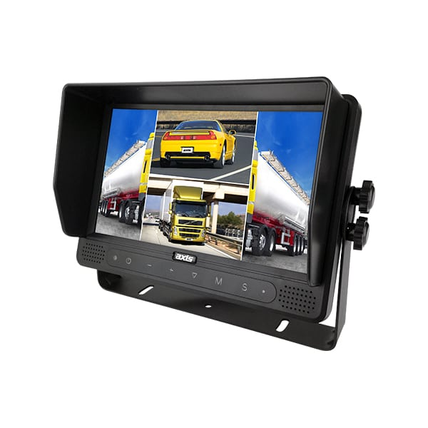 """AXIS JS1409Q 9"""" QUAD LCD REARVIEW MONITOR -"""