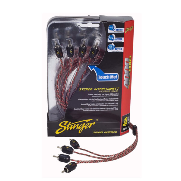 STINGER SI4417 4-CHANNEL RCA INTERCONNECTS -