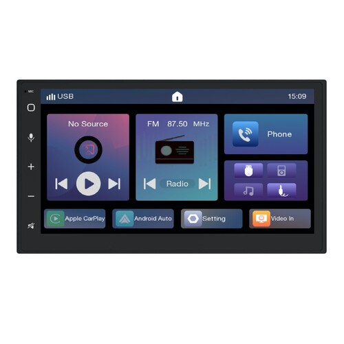MONGOOSE Q-U720AC Wireless Apple Carplay and Android Auto HEAD UNIT DOUBLE DIN -