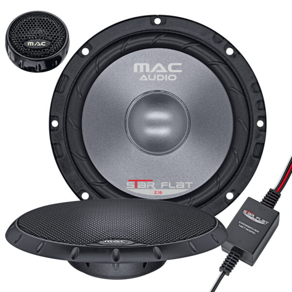 """Mac Audio Star Flat 2.16 6.5"""" CAR SPEAKER 2-WAY COMPONENT SYSTEM WITH LOW INSTALLATION DEPTH -"""