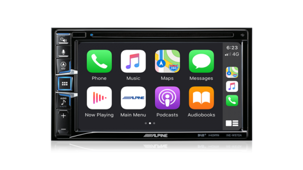 "Alpine INE-W970A INE-W970A 6.5"" Apple CarPlay / Android Auto / Navigation / CD/DVD Receiver /HDMI / Dual USB / Bluetooth / FLAC / DAB+ Receiver -"