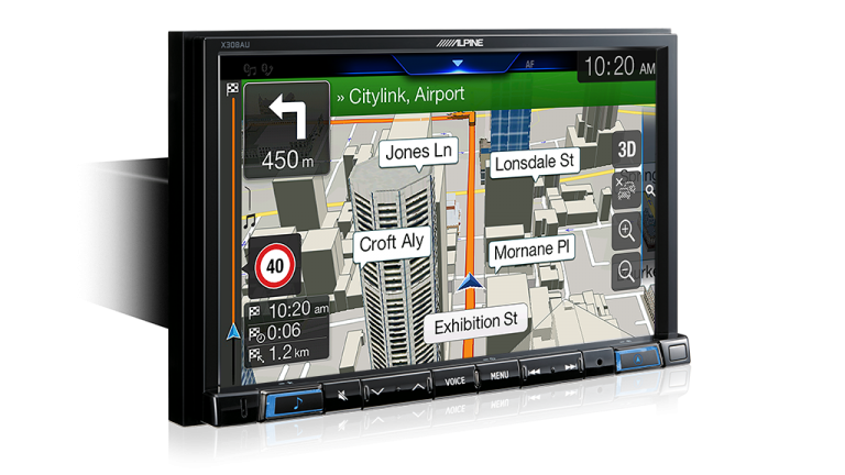 "Alpine A3-X308AU 8"" Apple CarPlay / Android Auto / Primo 3.0 Navigation / HDMI / Bluetooth / DAB+ Receiver -"